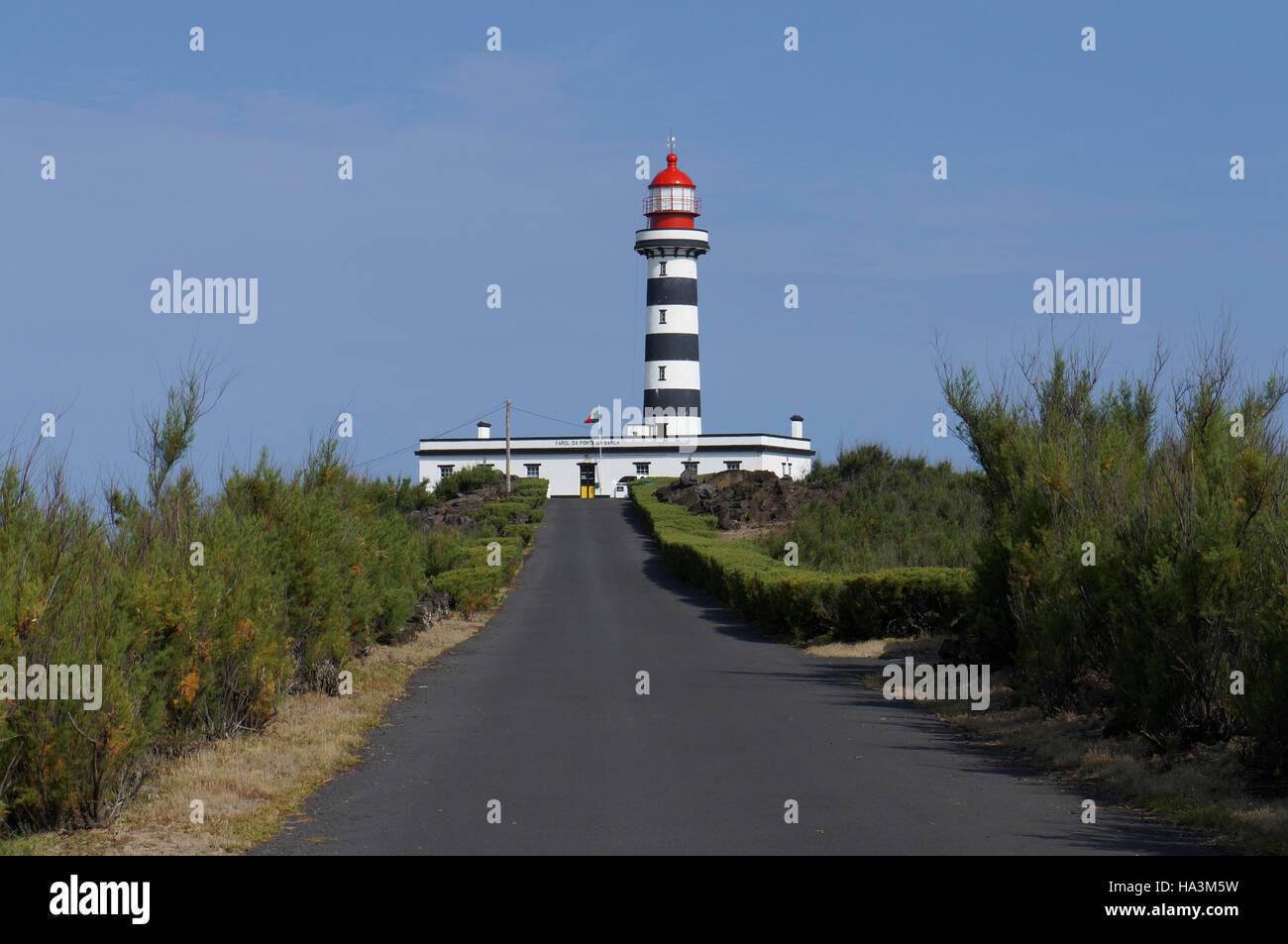 Ponta da Barca lighthouse. Graciosa Island, Azores. Portugal - Stock Image