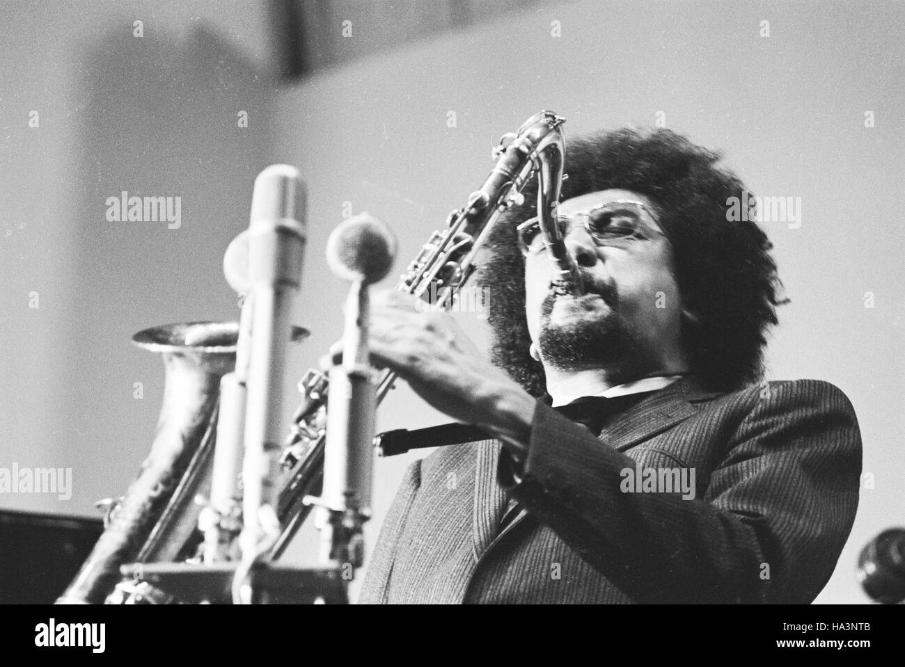 Charles Lloyd performing at the International Jazz Festival at Tallinn, 1967. - Stock Image