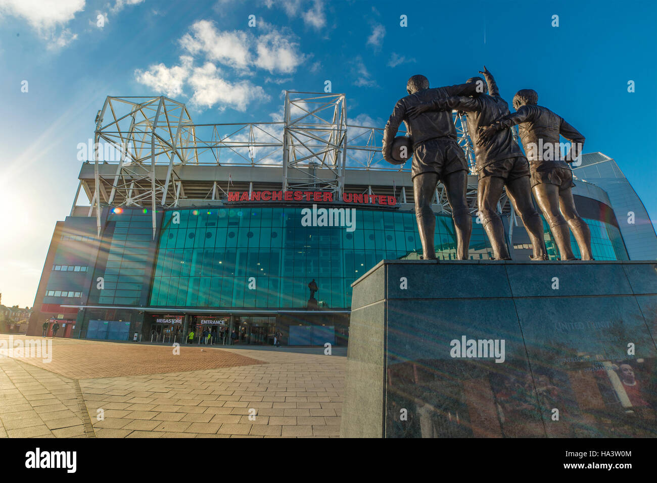 Old Trafford Football Ground, Home of Manchester United - Stock Image