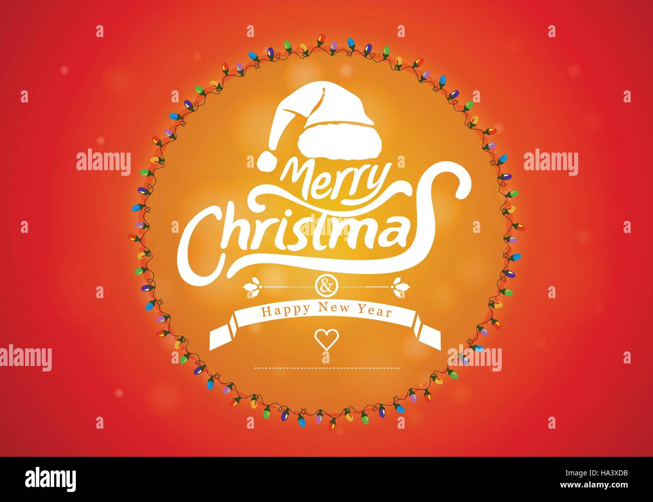 Merry Christmas and Happy new Year Vector Art - Stock Image