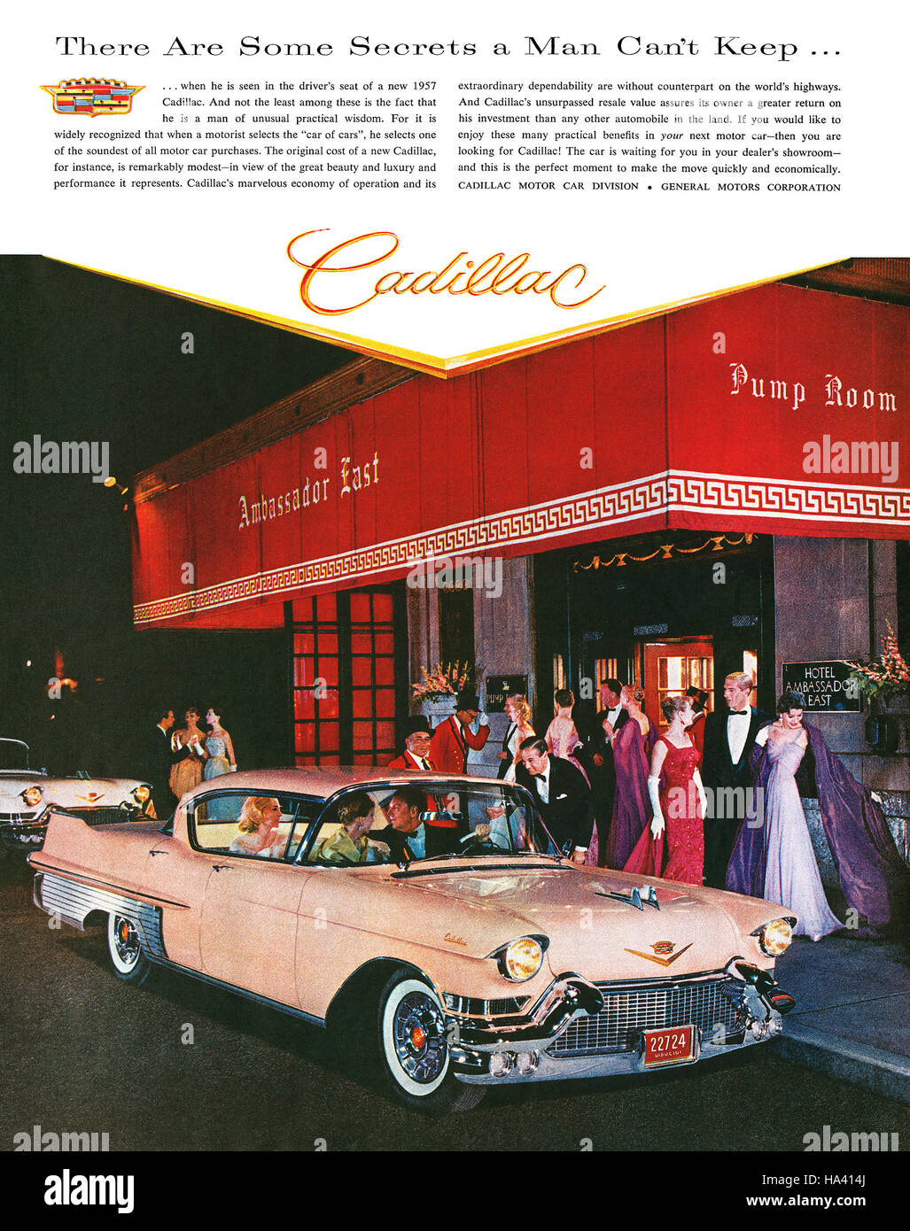 1957 U.S. advertisement for Cadillac - Stock Image