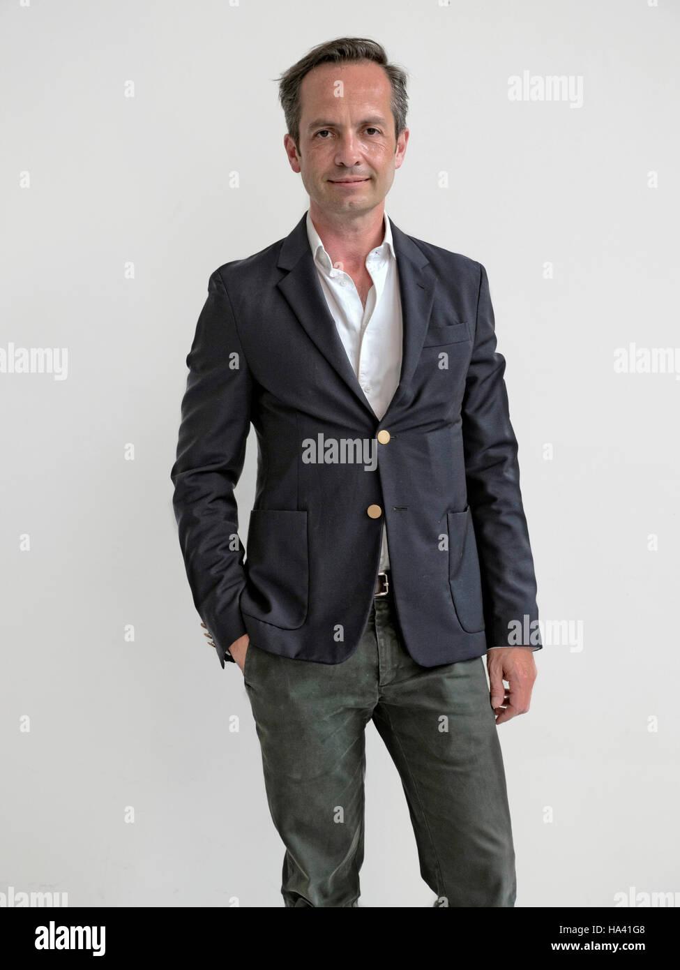 Stephane Schwarz  Senior designer at Carrozzeria Zagato Milan Italy - Stock Image