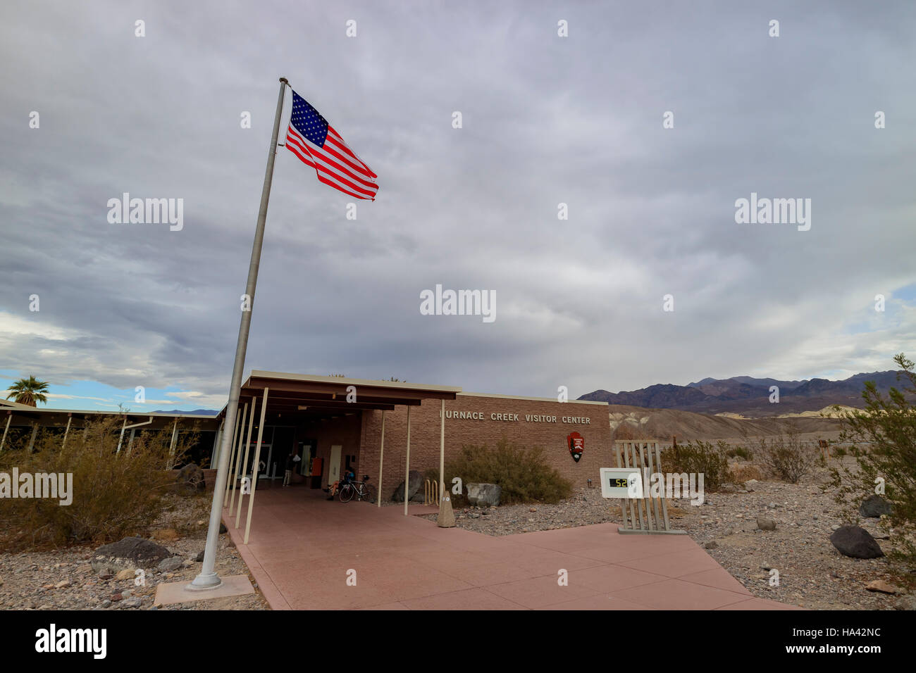 The famous visitor center at Death Valley National Park, California - Stock Image