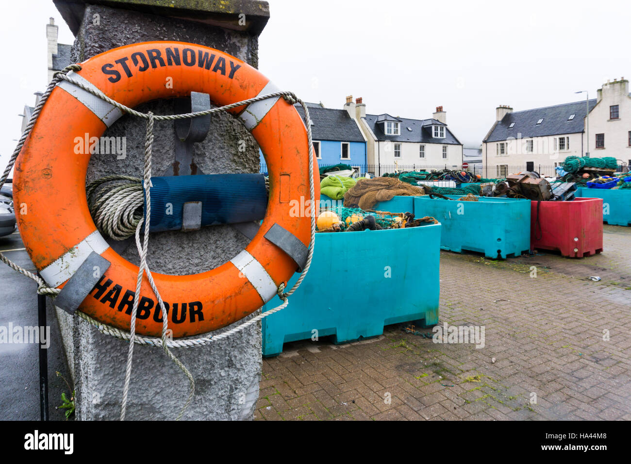 Stornoway Harbour on the Isle of Lewis in the Outer Hebrides. - Stock Image