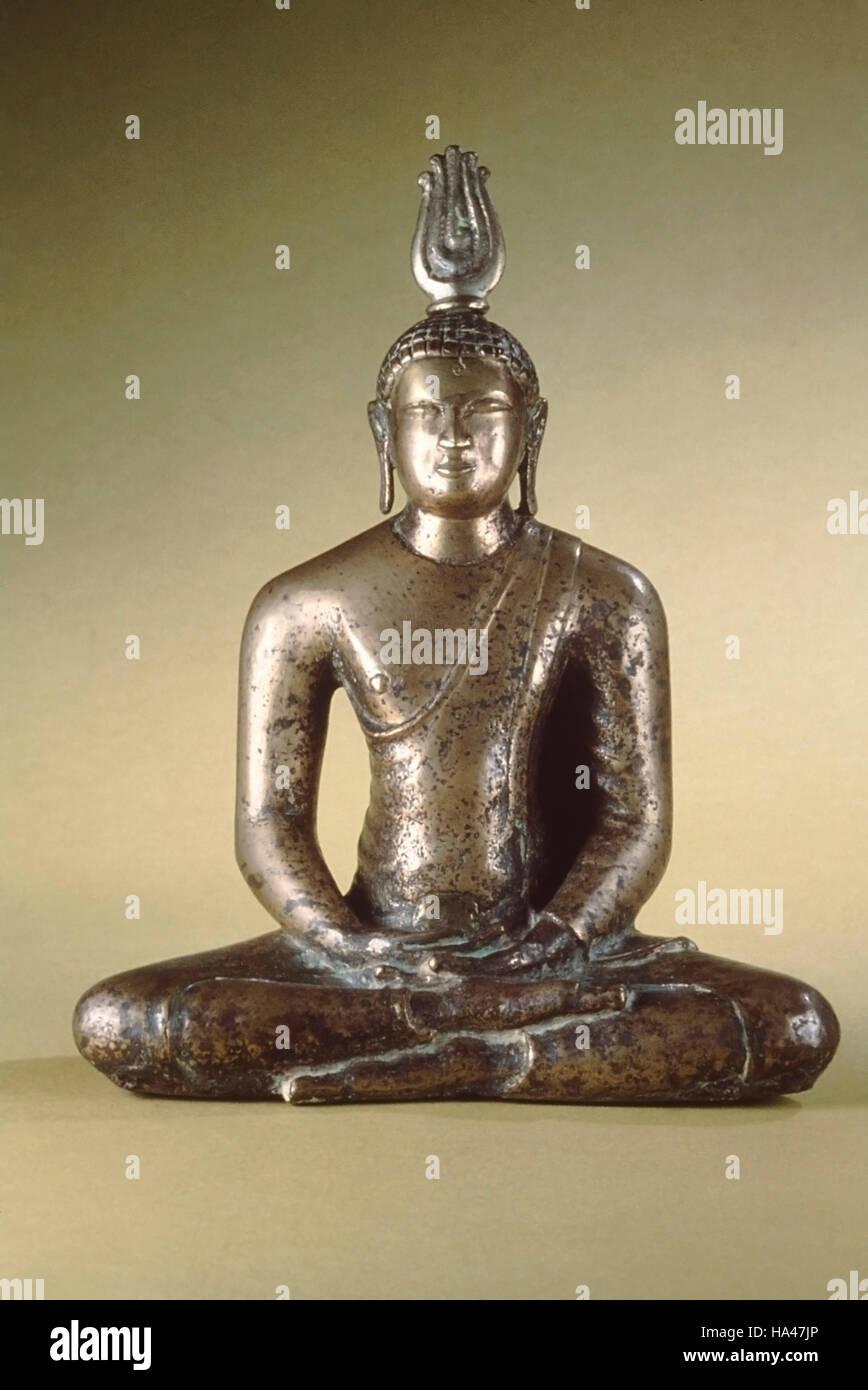 Bronze miniature of the Buddha  Anuradhapura period  Dated: 800 A D