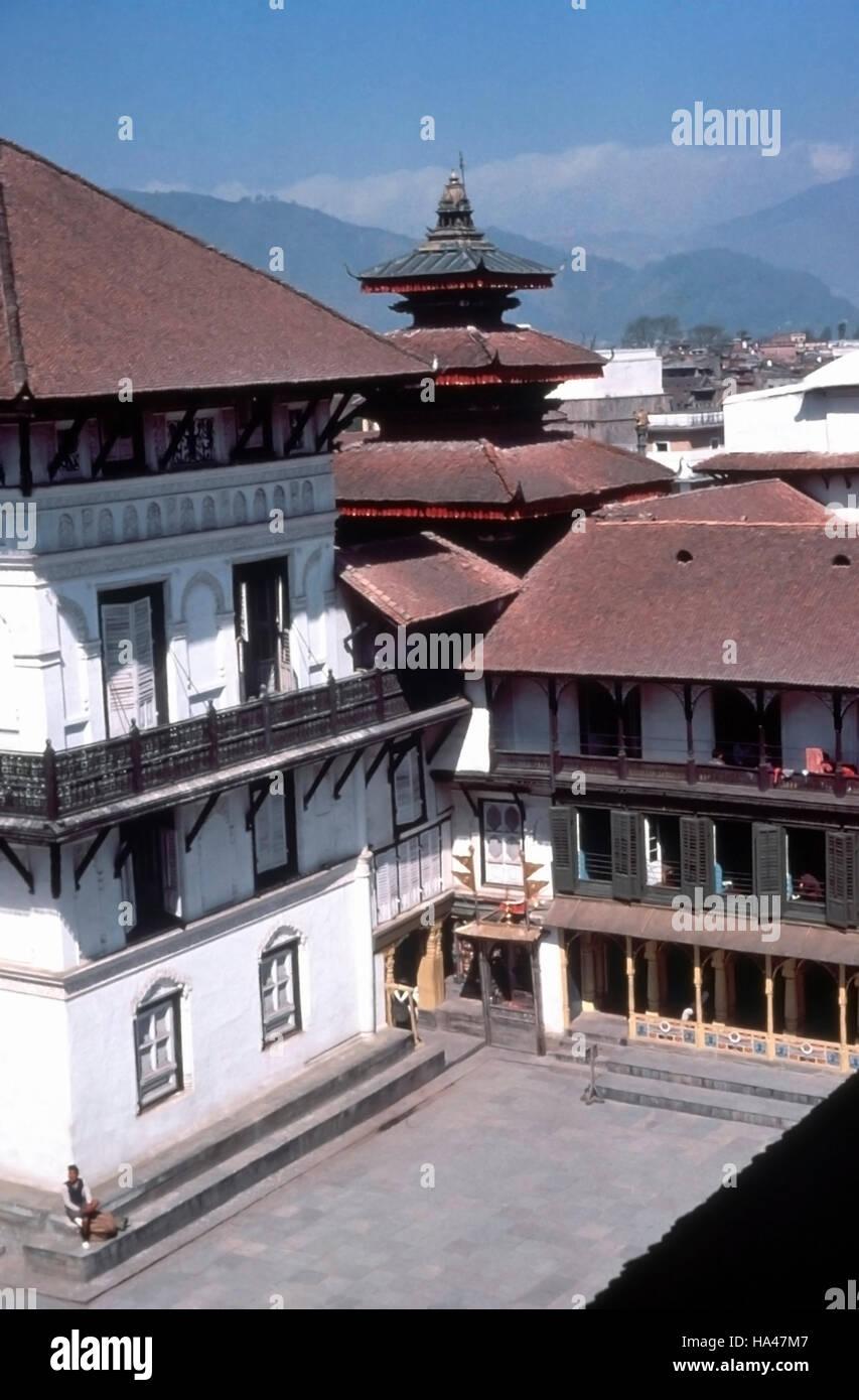 Nasal Chowk. Palace complex. Katmandu, Nepal. - Stock Image