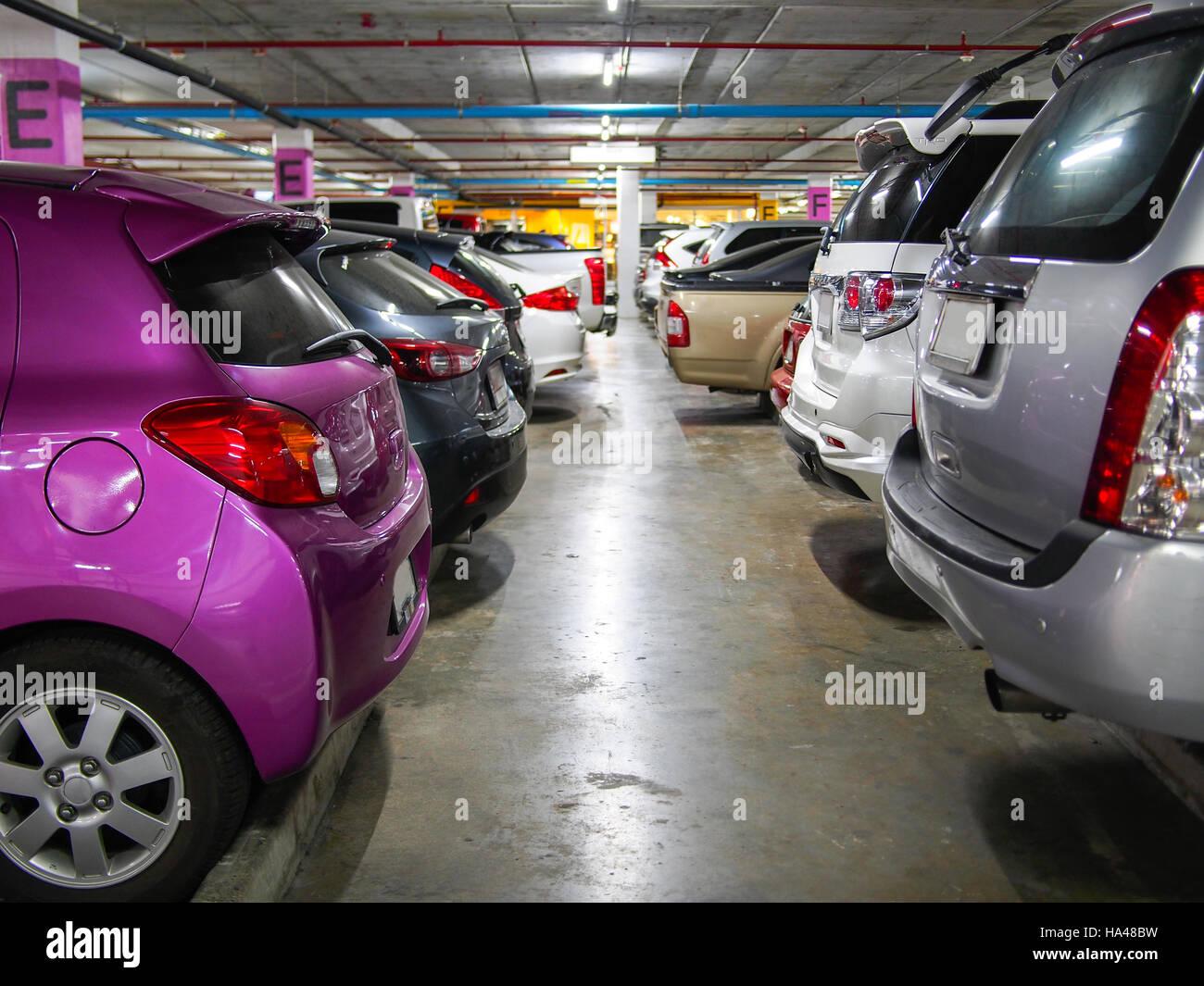 parking lot underground interior - Stock Image