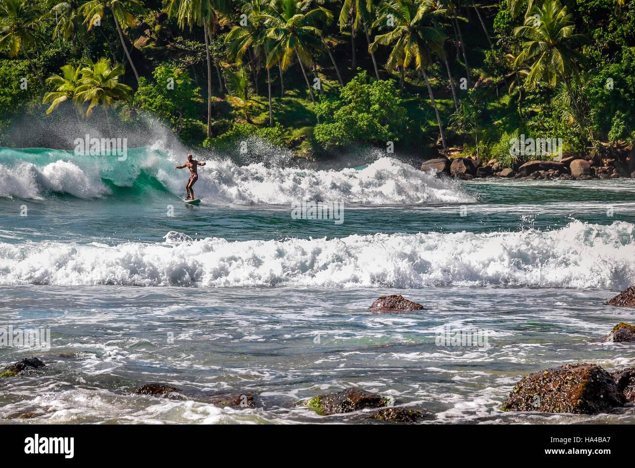 surfers paradise in Mirissa - Stock Image