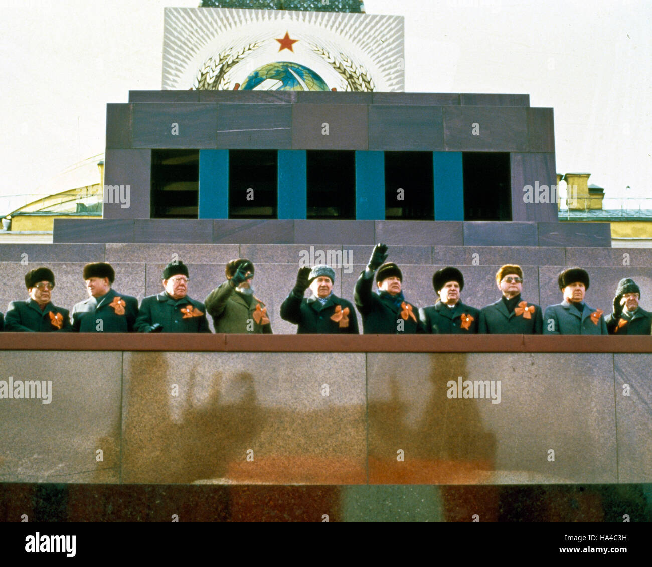 Nov. 07, 1987 - Moscow, Central Federal District, Russia - FIDEL CASTRO, President of Cuba and First Secretary of - Stock Image