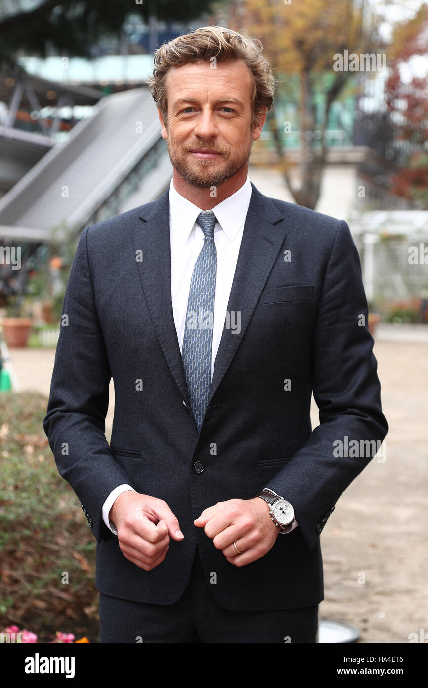 Tokyo, Japan. 27th November, 2016. Australian actor and director Simon Baker attends The 36th running of The Japan - Stock Image