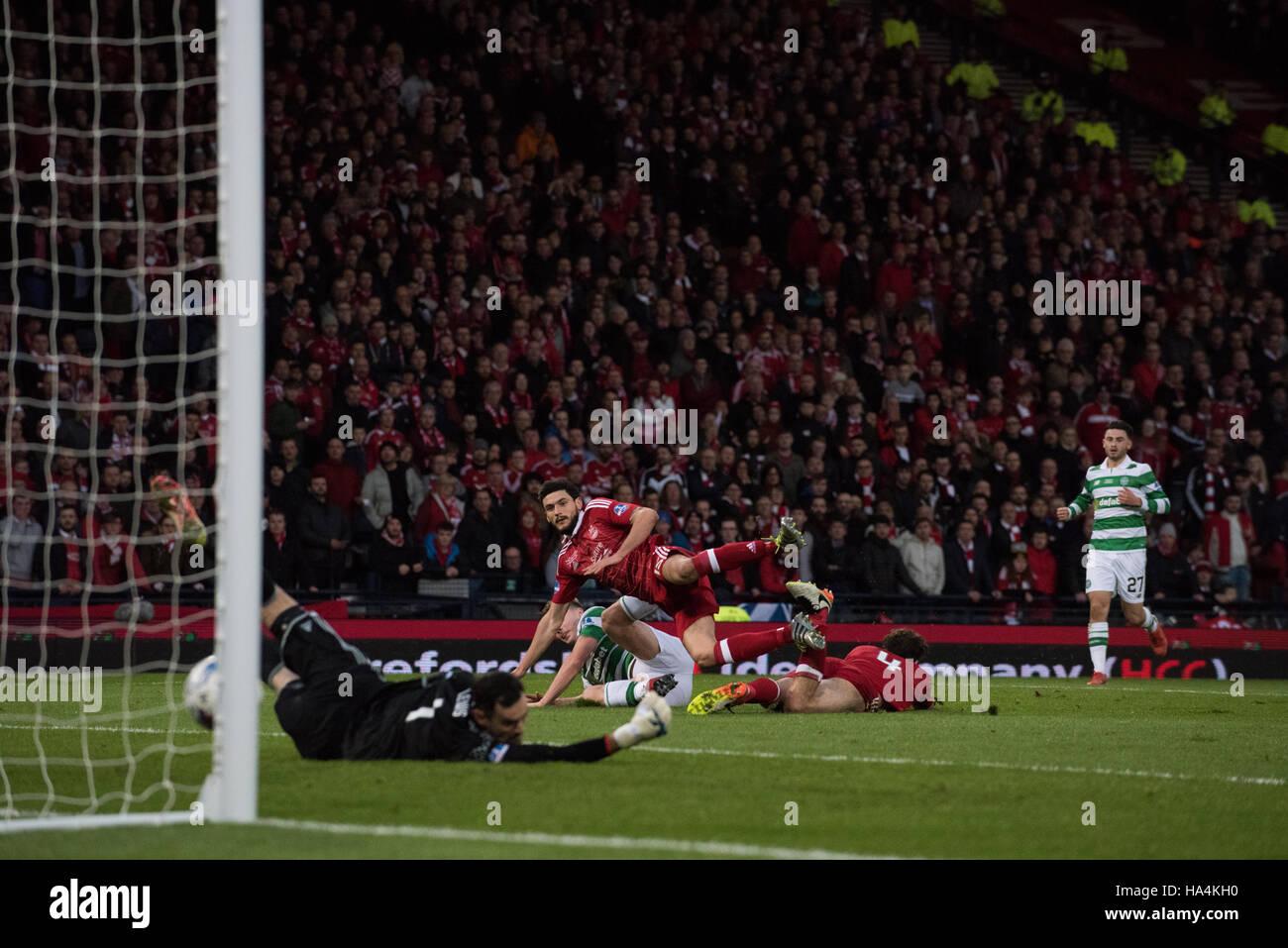 Aberdeen v Celtic, Betrfred League Cup Final, Glasgow, UK. 27th Nov, 2016.  James Forrest scores for Celtic Credit: - Stock Image