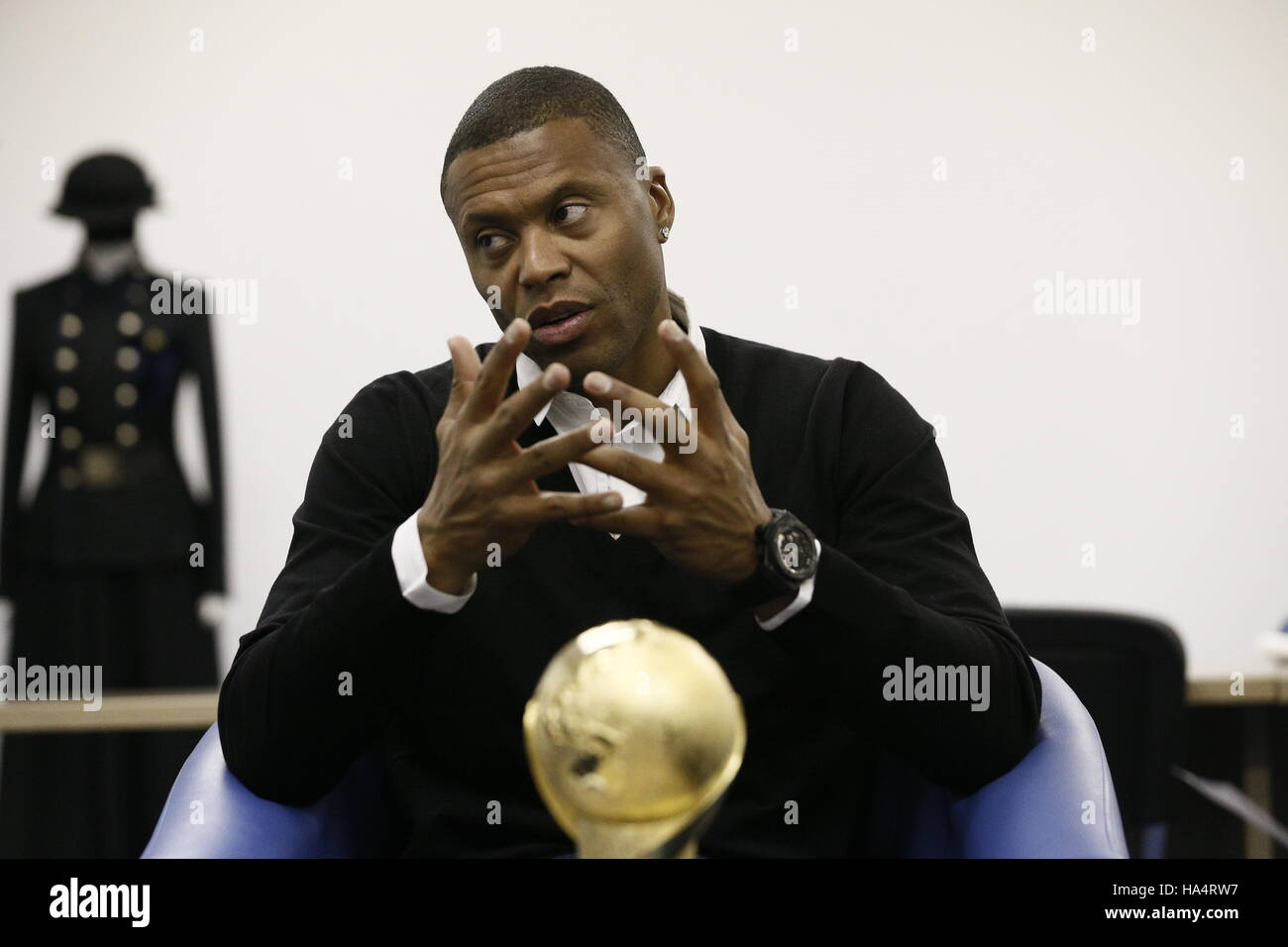 Moscow, Russia. 28th Nov, 2016. Brazilian professional footballer Julio Baptista with the 2017 FIFA Confederations - Stock Image