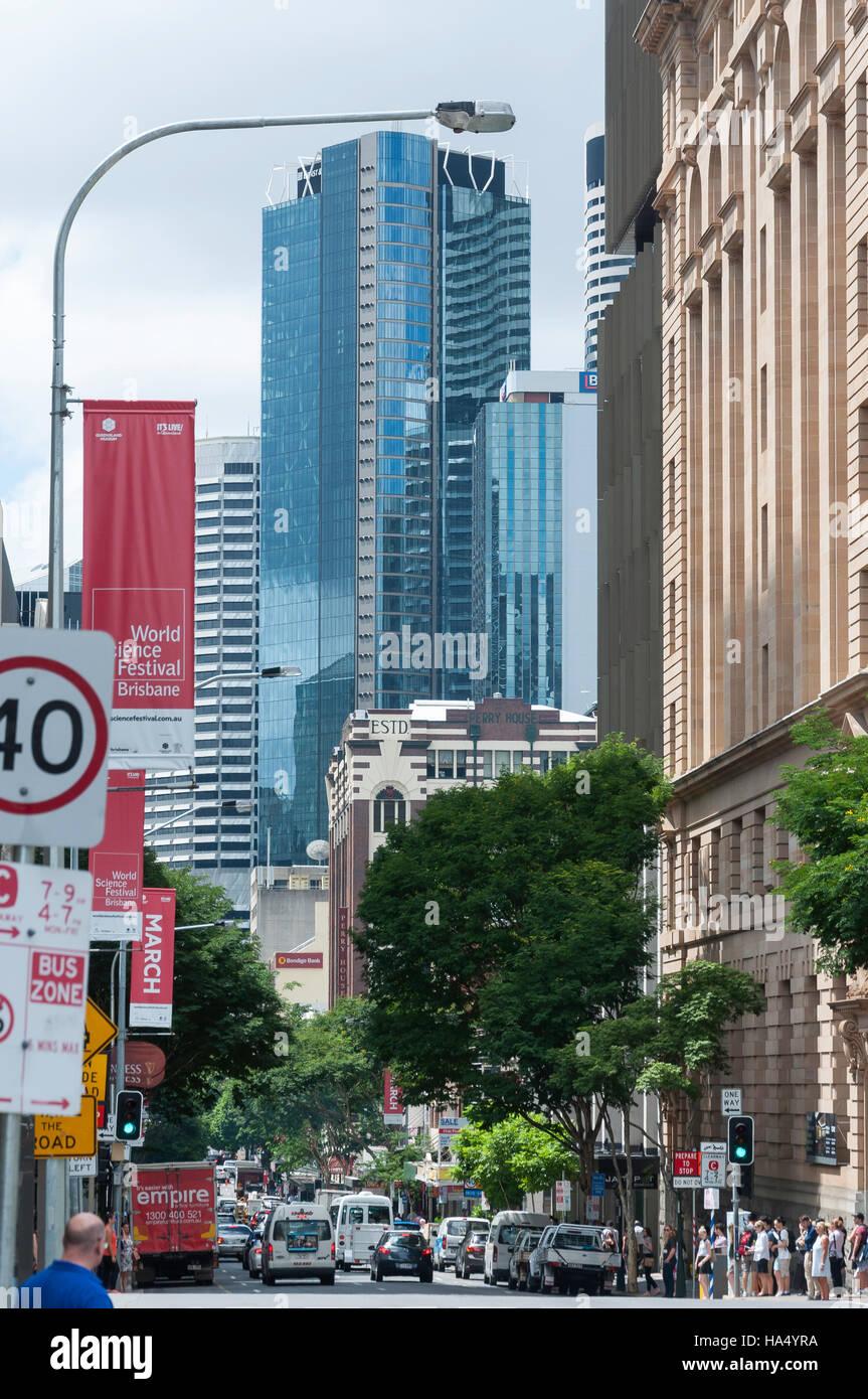 Elizabeth Street, Brisbane City, Brisbane, Queensland, Australia - Stock Image