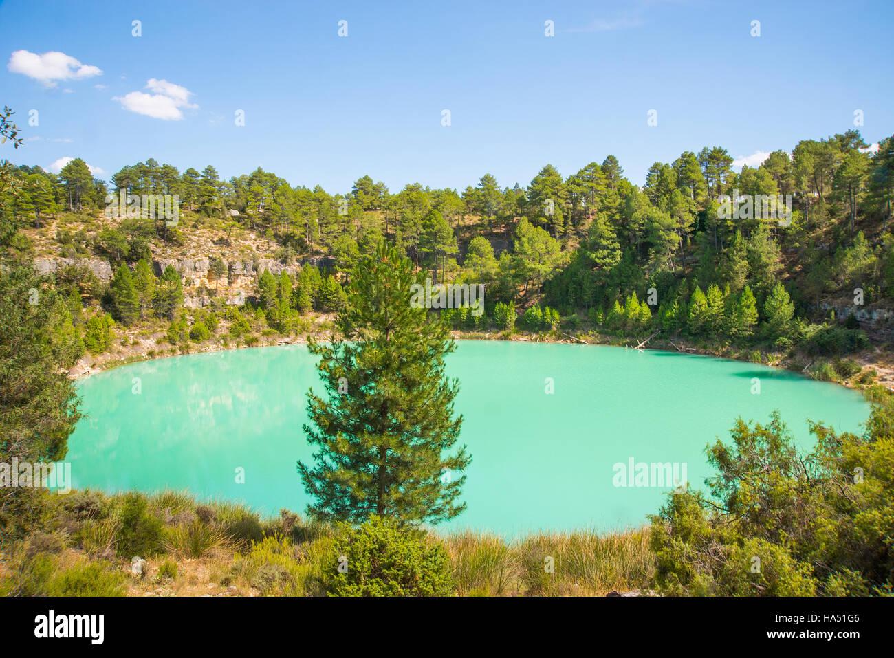 La Gitana lake, natural monument. Lagunas de Cañada del Hoyo, Serrania de Cuenca Nature Reserve, Cuenca province, - Stock Image