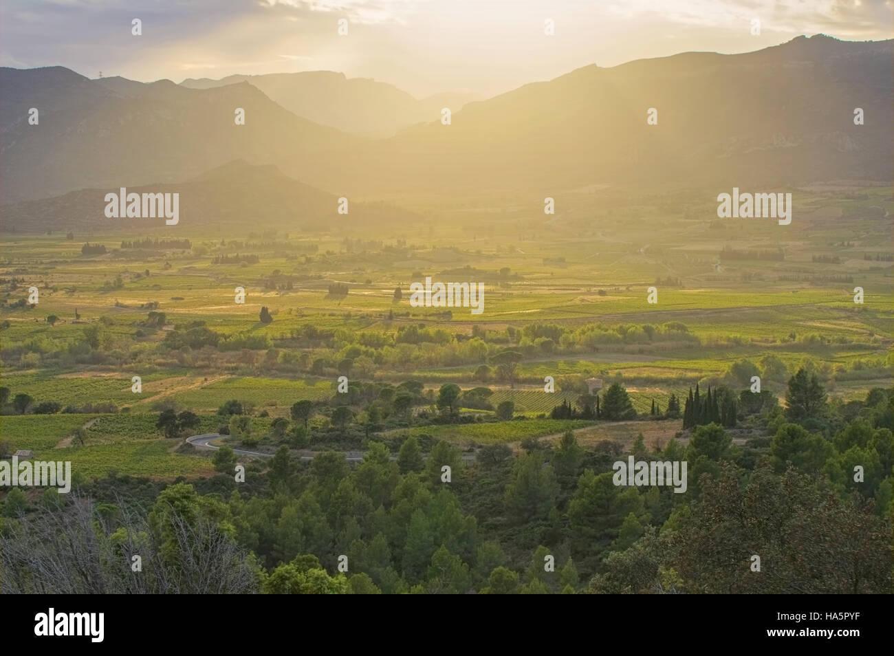 Corbieres Landschaft im Süden Frankreichs - Corbieres landscape in southern France Stock Photo
