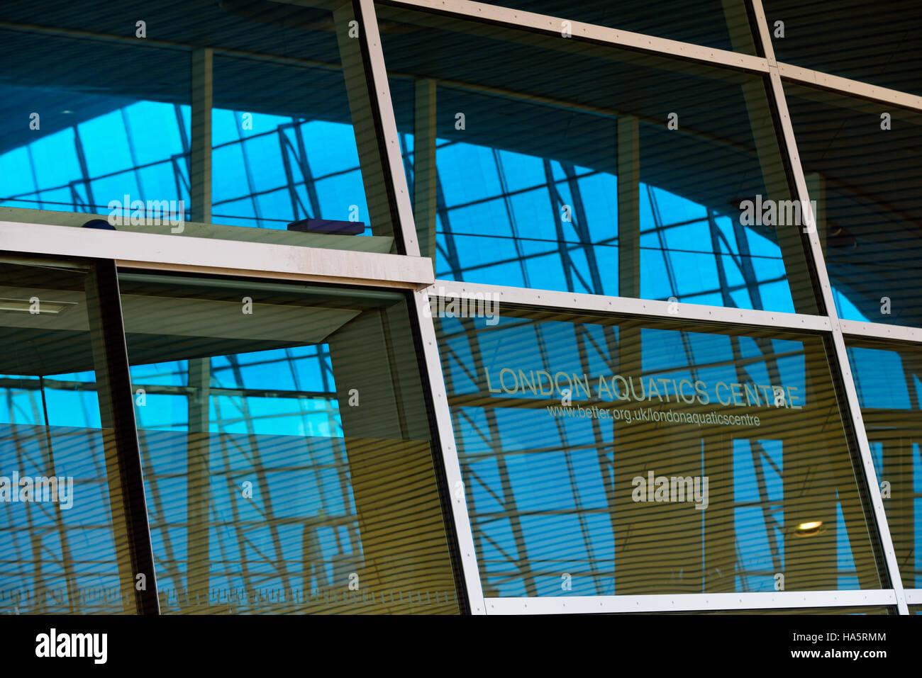 London Aquatics Centre, Queen Elizabeth Olympic Park, Stratford, London E20, United Kingdom - Stock Image