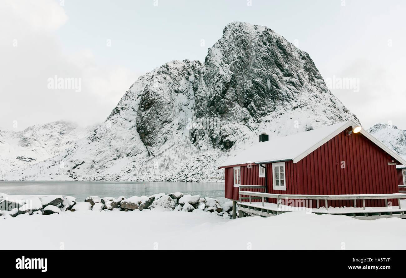 Rorbu at Lofoten, Norway - Stock Image