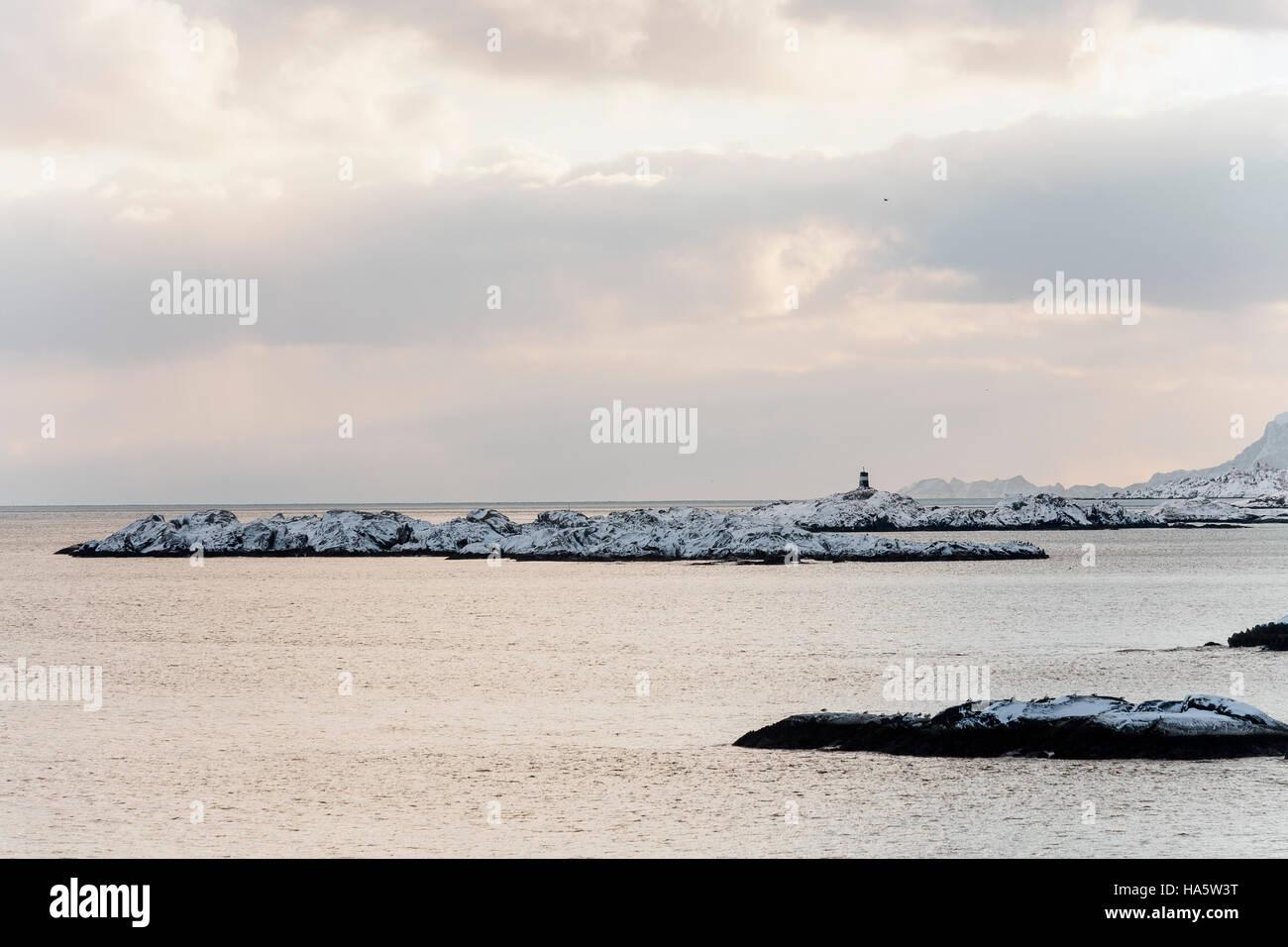 Coastal landscape at Lofoten, Norway - Stock Image