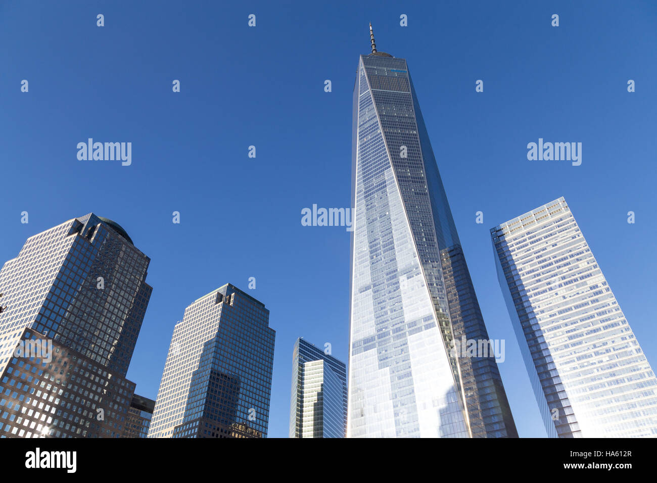 View of the World Trade Center in Lower Manhattan in New York City Stock Photo