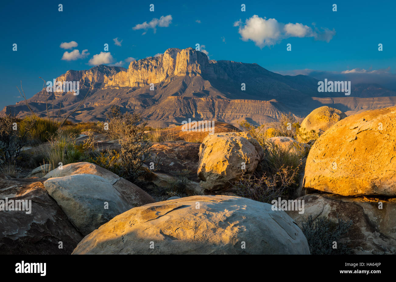 El Capitan is a peak in Culberson County, Texas, United States, within Guadalupe Mountains National Park - Stock Image