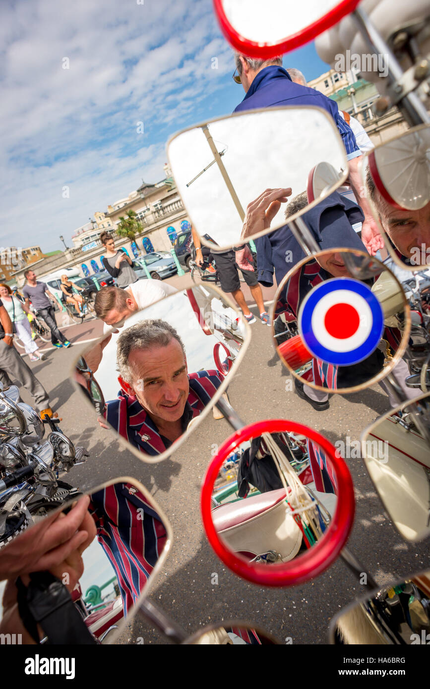 Mods at the annual Mod Weekender in Brighton - Stock Image