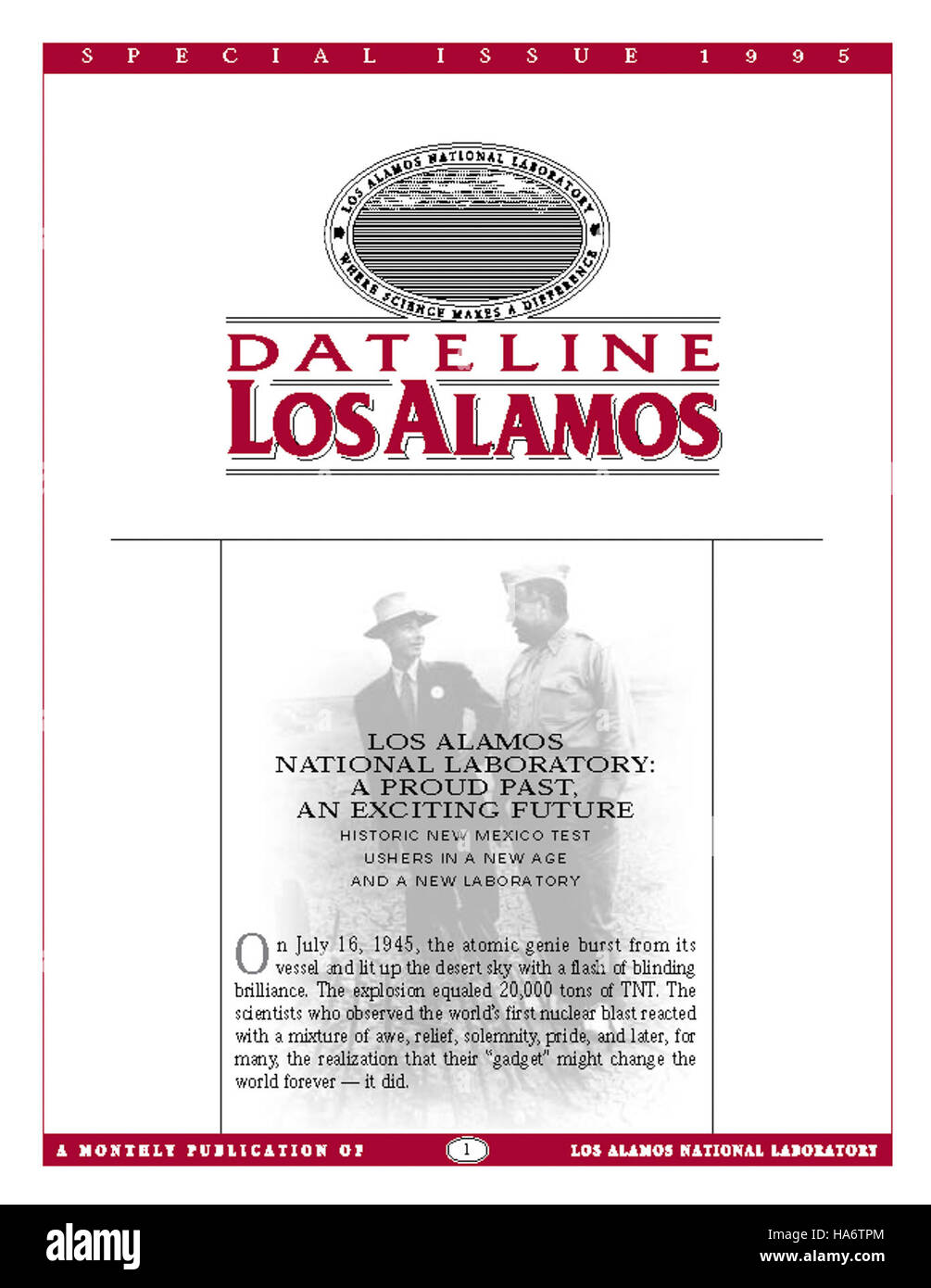 losalamosnatlab 7597465270 Dateline Los Alamos Special Issue 1995 - Stock Image
