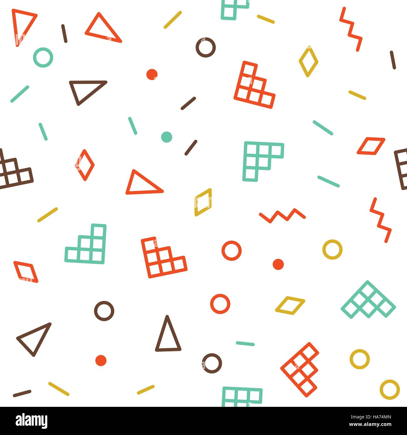 Vector Geometric Seamless Pattern - Stock Vector