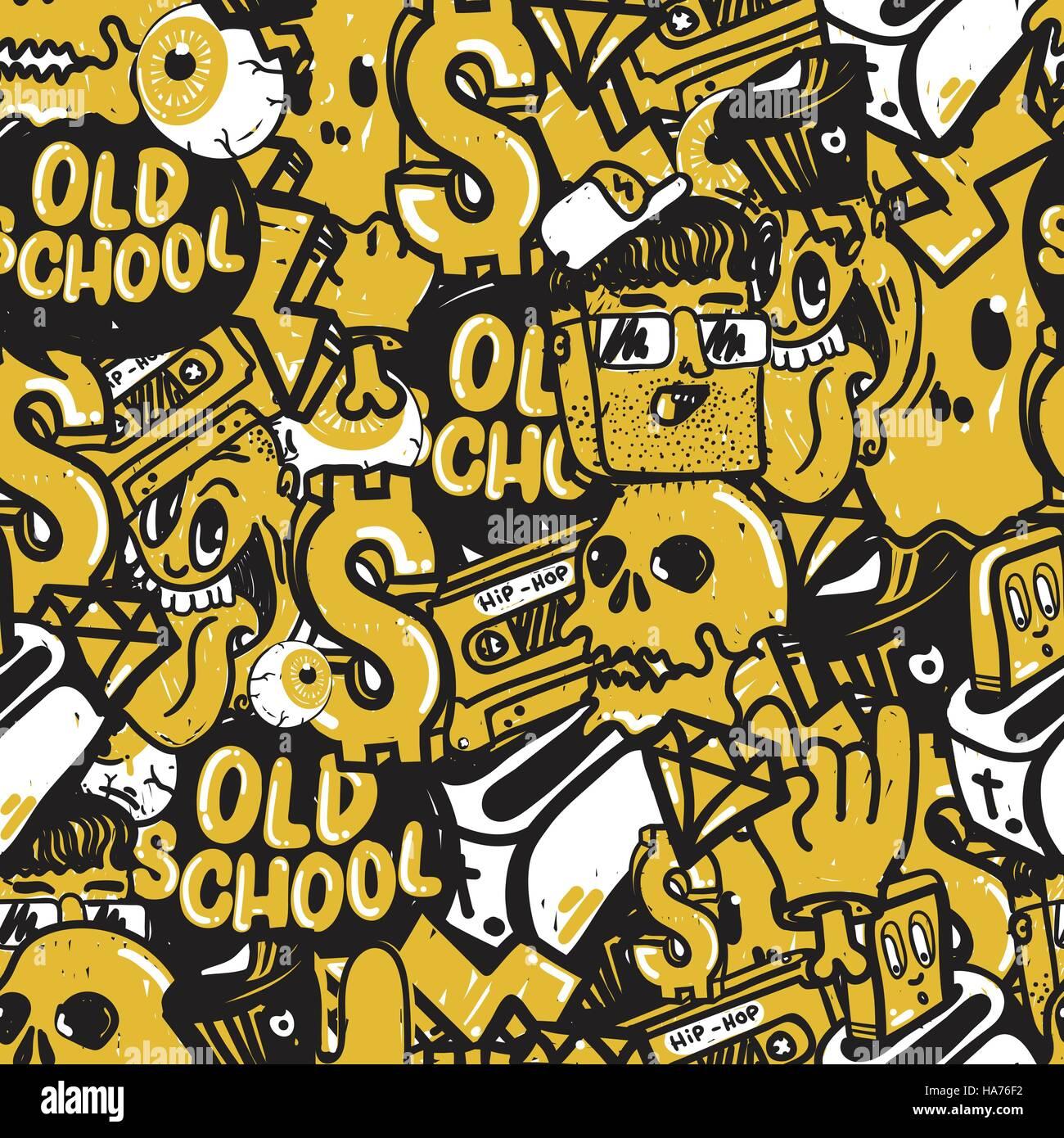 Seamless Pattern Graffiti Royalty Free Image 13