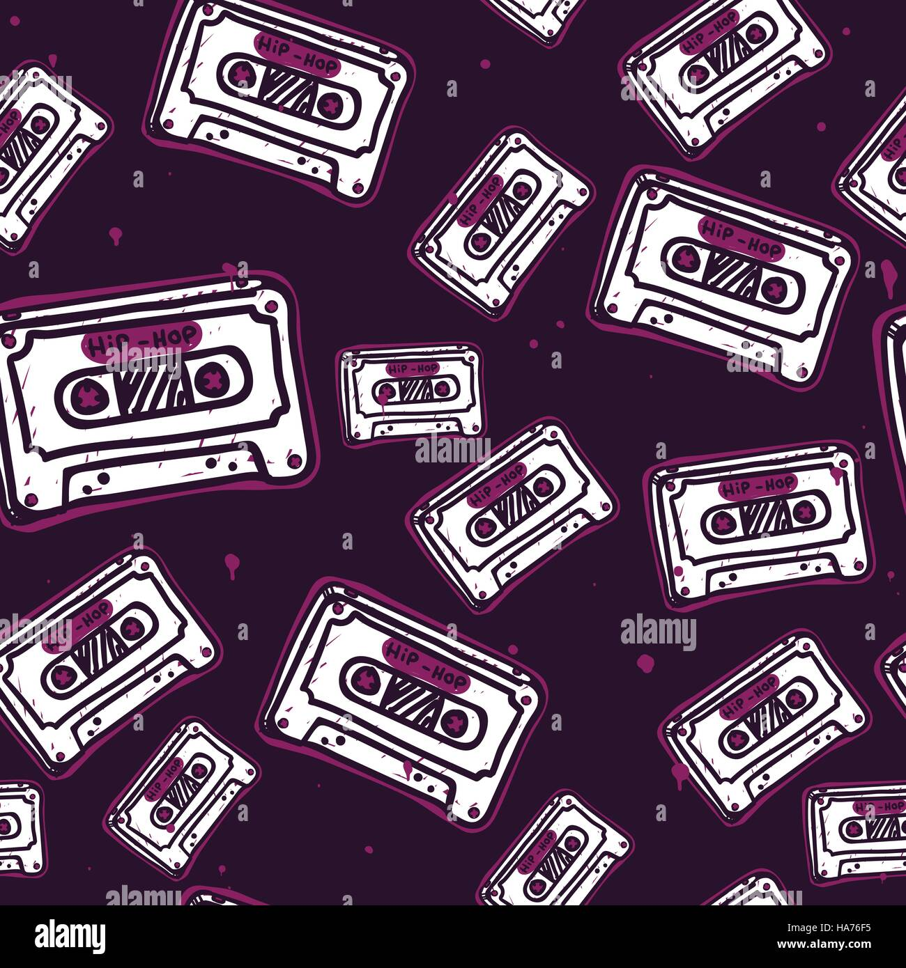 Graffiti Seamless Pattern Stock Image