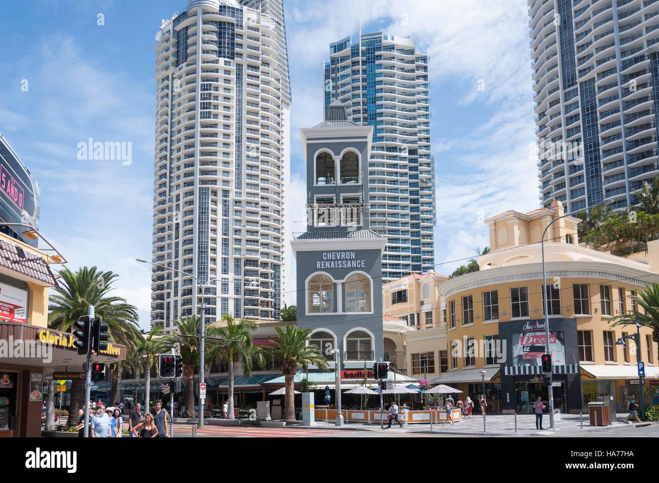 Chevron Renaissance Shopping Centre And Apartments, Elkhorn Avenue, Surfers  Paradise, Gold Coast, Queensland, Australia
