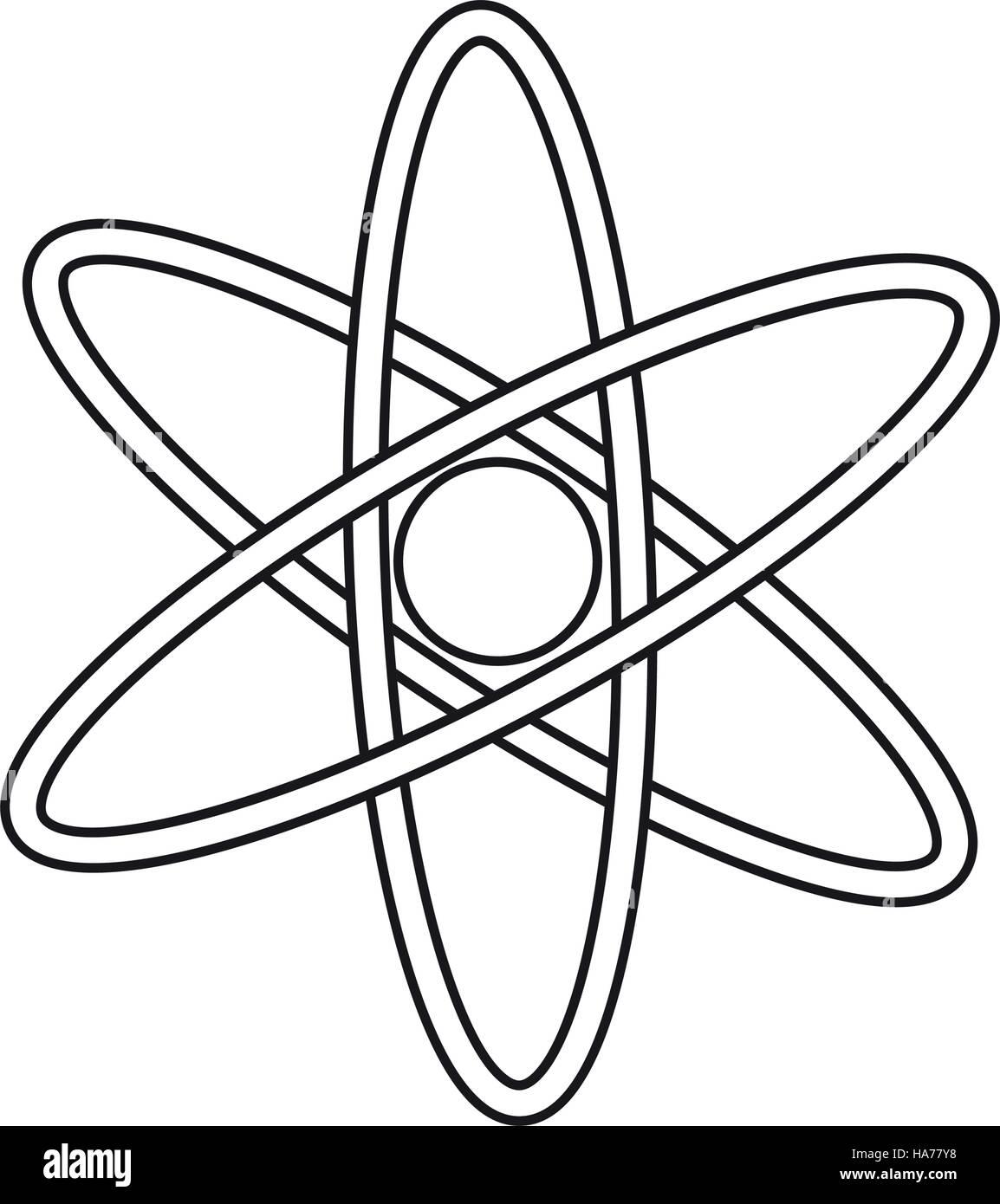 atom molecule structure model pictograph - Stock Image
