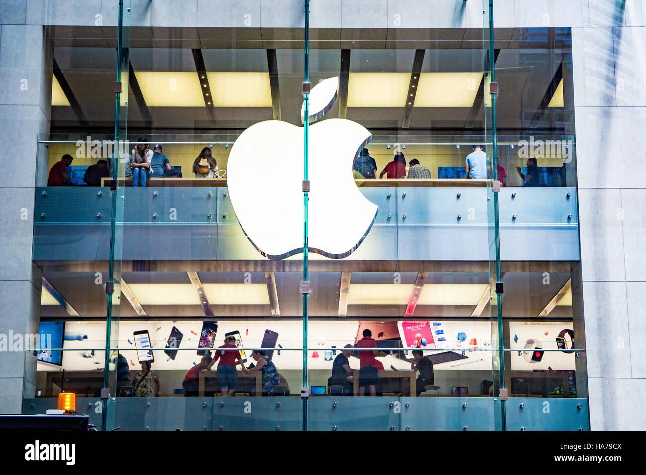 The flagship Apple Store in Sydney, Australia - Stock Image