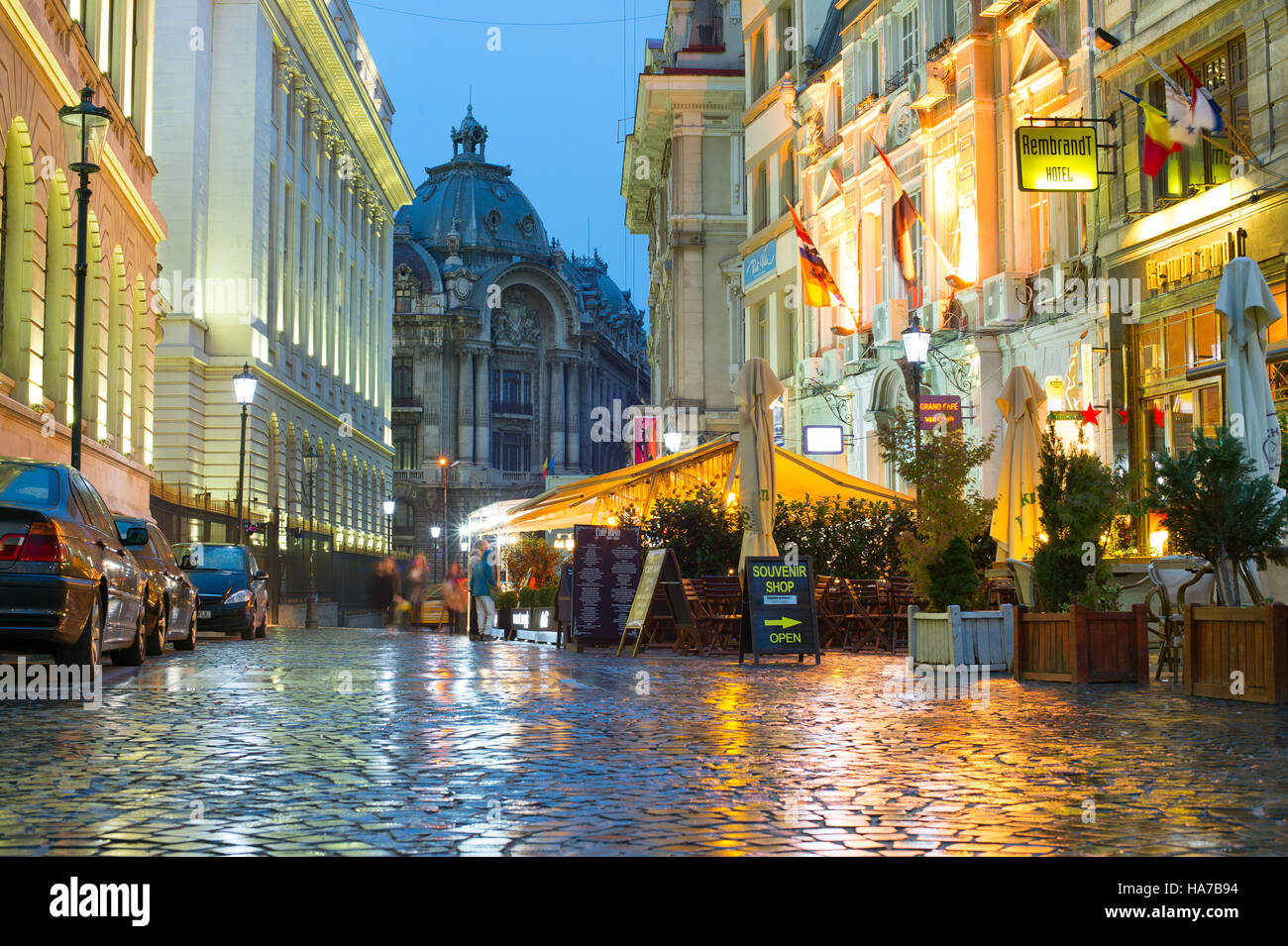 Old Town of Bucharest. The Old Town part of Bucharest, also called Lipscani. Romania - Stock Image