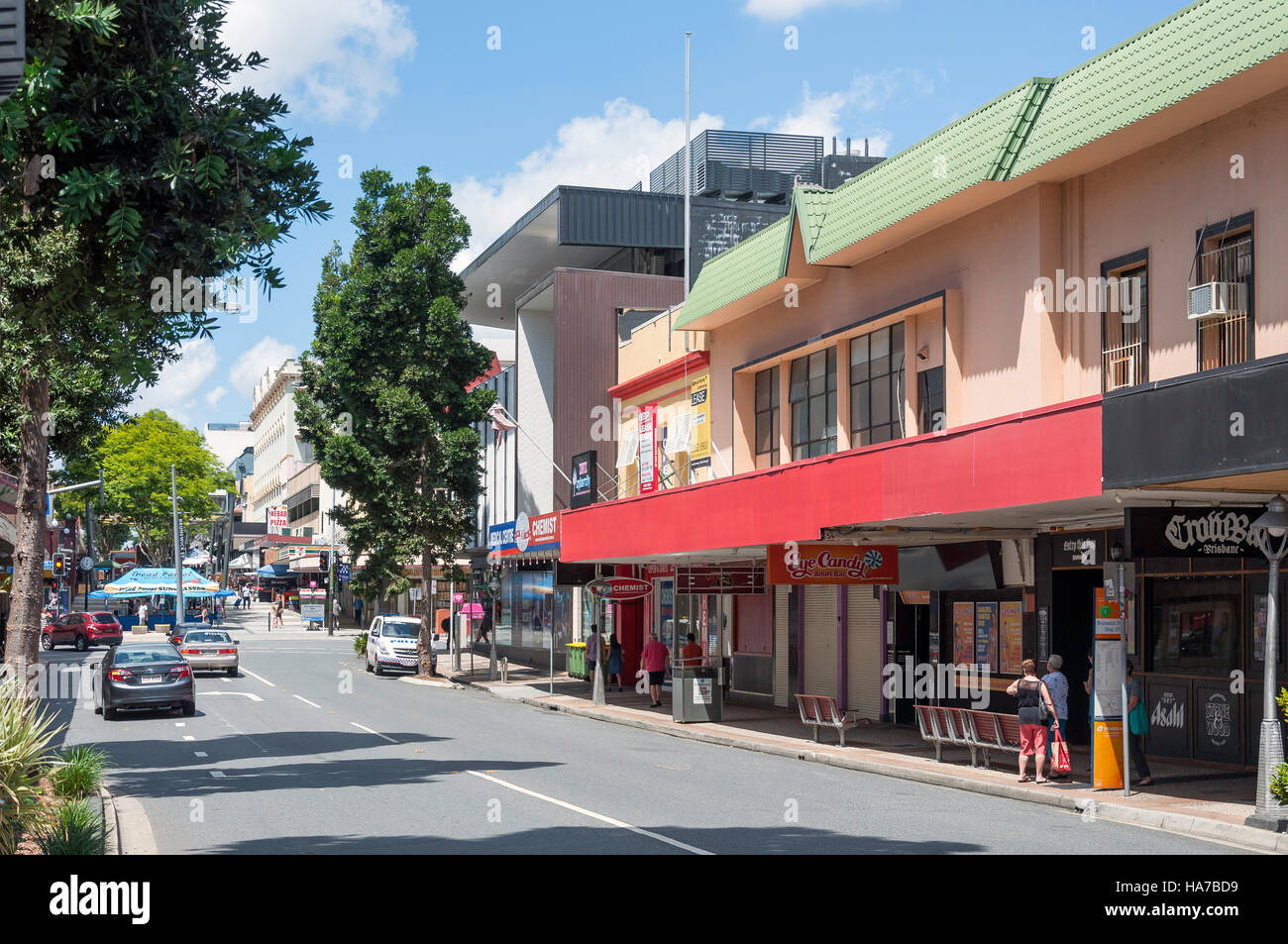 Brunswick Street, Fortitude Valley, Brisbane, Queensland, Australia - Stock Image