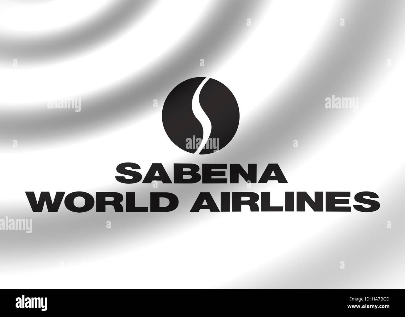Sabena World Airlines logo Stock Photo