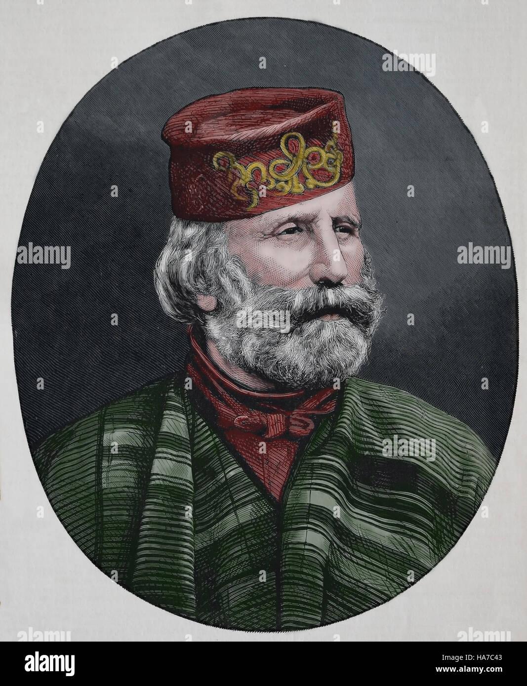 Giuseppe Garibaldi (1807-1882). Italian general, politician and nationalist. Central figure in the Italian Risorgimento. - Stock Image