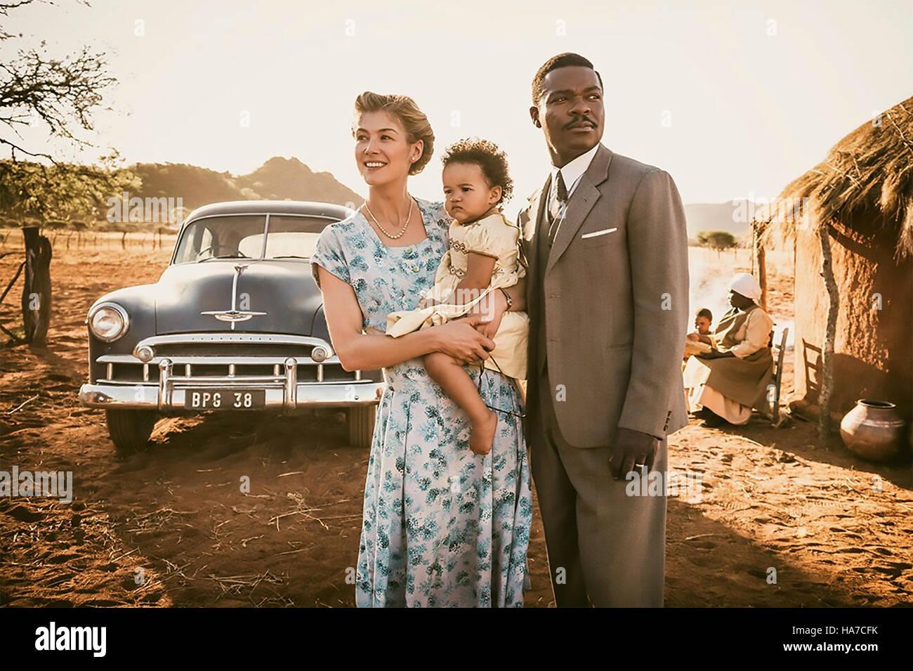 A UNITED KINGDOM 2016 Film United production with Rosamund Pike and David Oyelowo - Stock Image