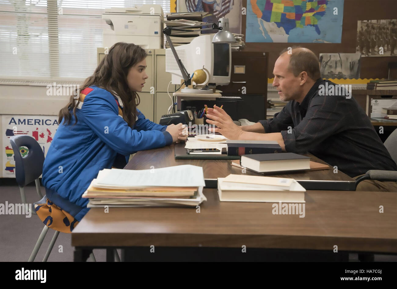 THE EDGE OF SEVENTEEN 2016 Gracie Films production with Hailee Steinfeld and Woody Harrelson - Stock Image