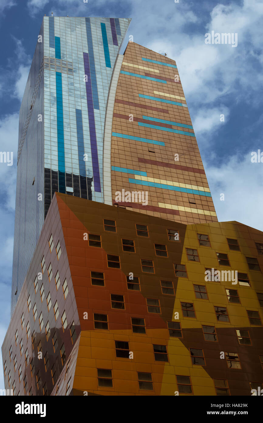 Colorful New York office buildings - Stock Image