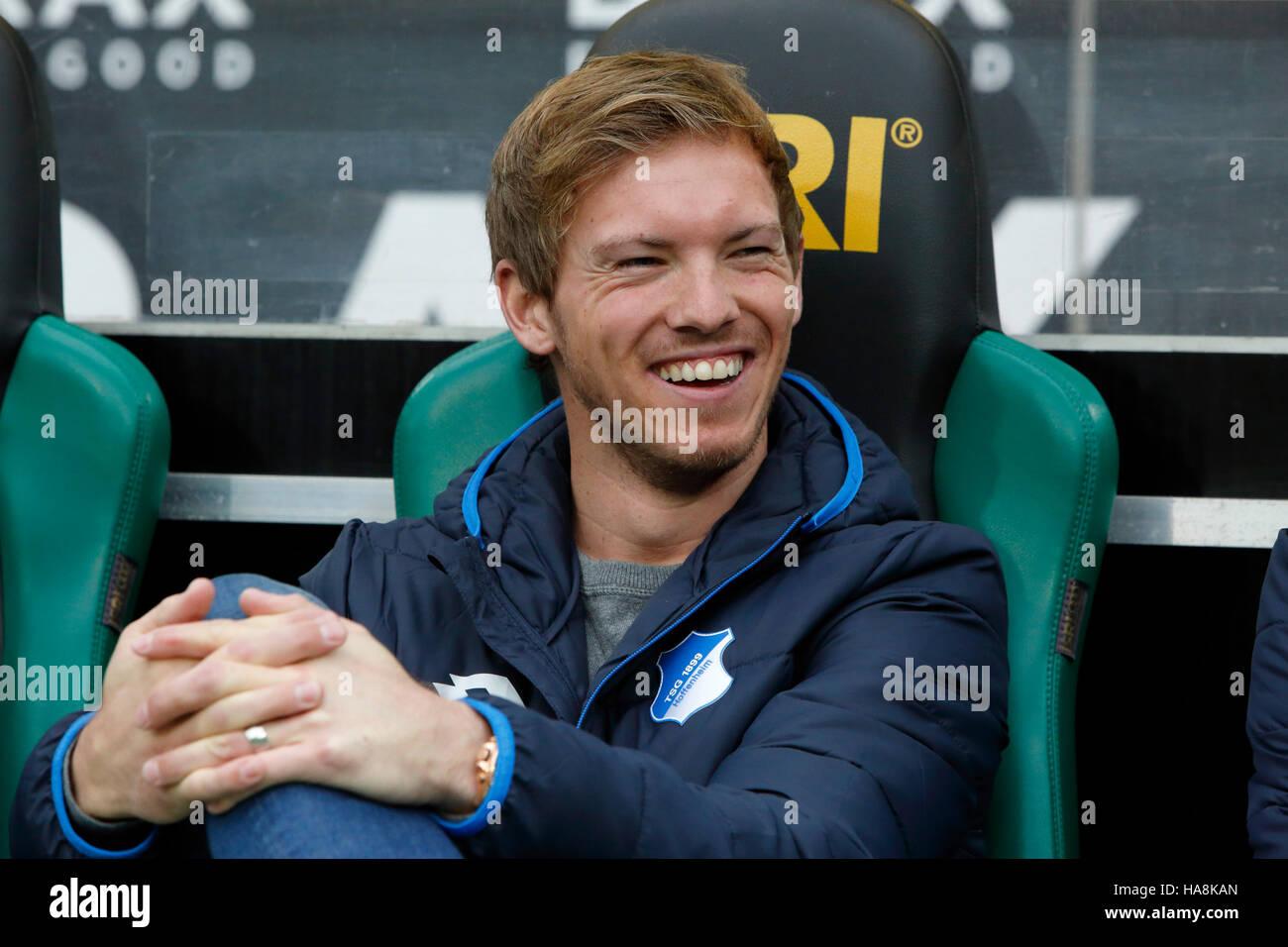 sports, football, Bundesliga, 2016/2017, Borussia Moenchengladbach vs TSG 1899 Hoffenheim 1:1, Stadium Borussia - Stock Image