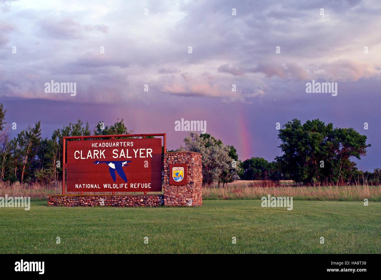 usfwsmtnprairie 14727893075 A Beautiful Welcome to J. Clark Salyer NWR - Stock Image