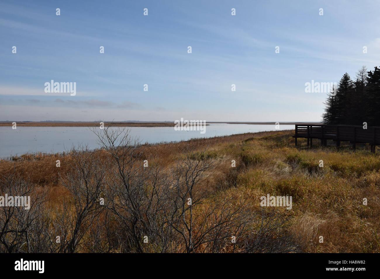 usfwsmtnprairie 15725296021 Beautiful Day at J. Clark Salyer NWR - Stock Image