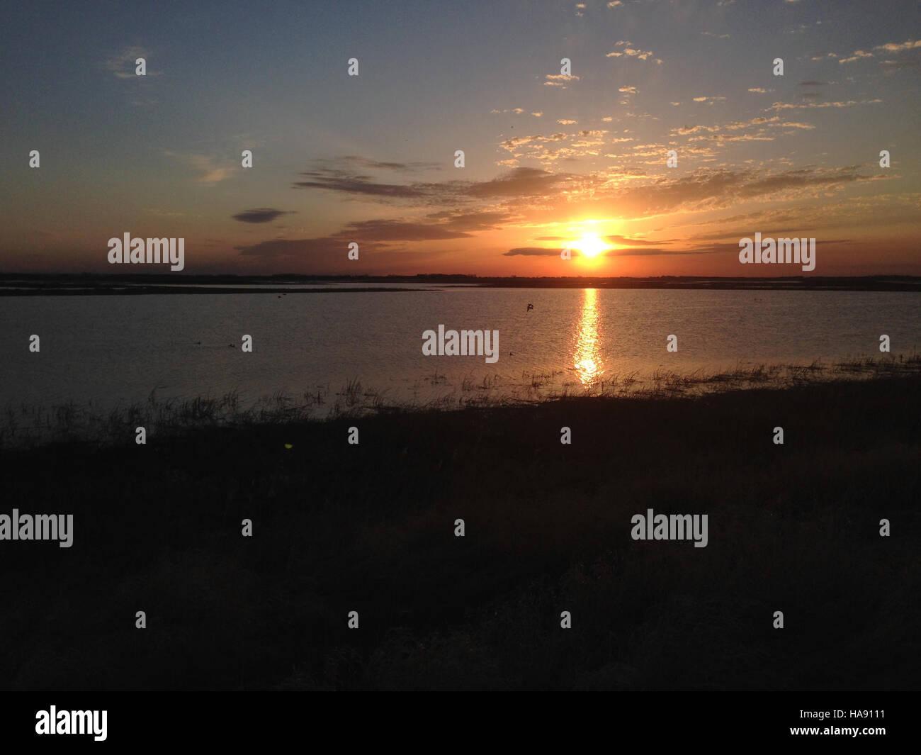 usfwsmtnprairie 28919470920 Sunrise at J. Clark Salyer NWR - Stock Image