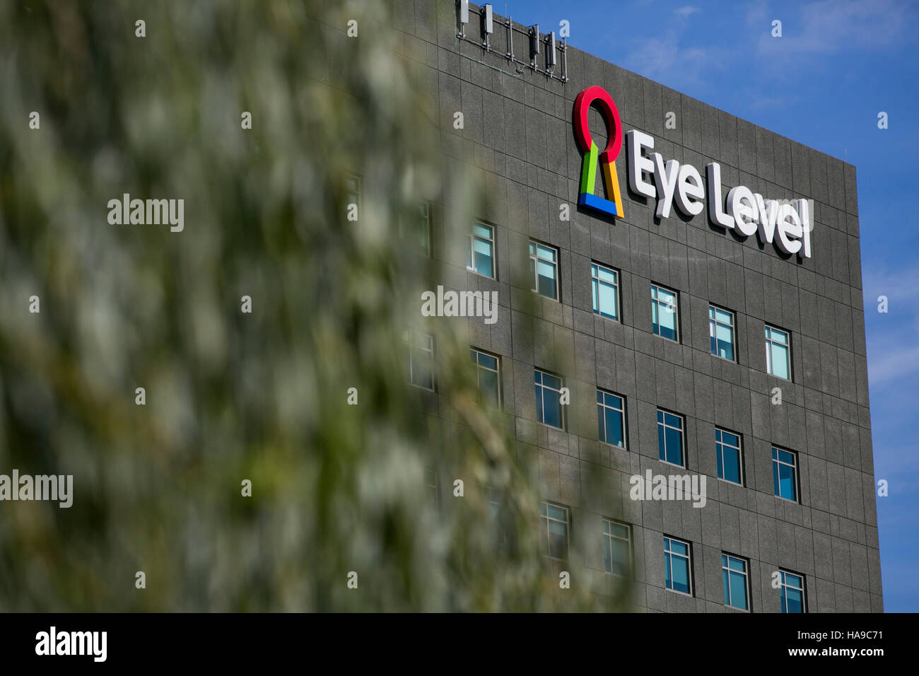 A logo sign outside of a facility occupied by Eye Level Learning in Ridgefield Park, New Jersey on November 5, 2016. - Stock Image