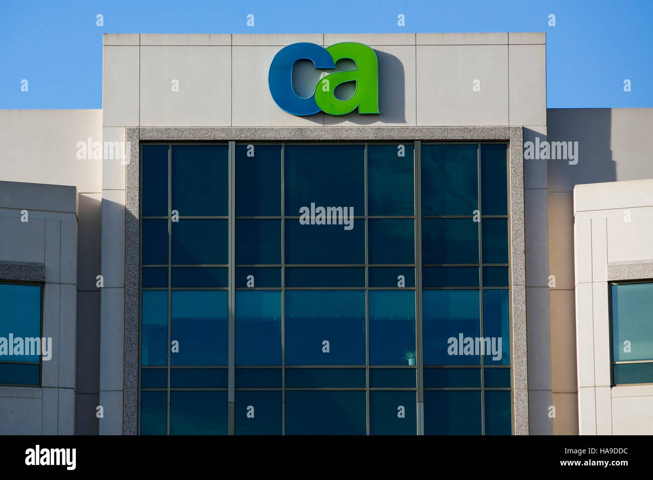 A logo sign outside of a facility occupied by CA Technologies in Ewing Township, New Jersey on November 6, 2016. - Stock Image