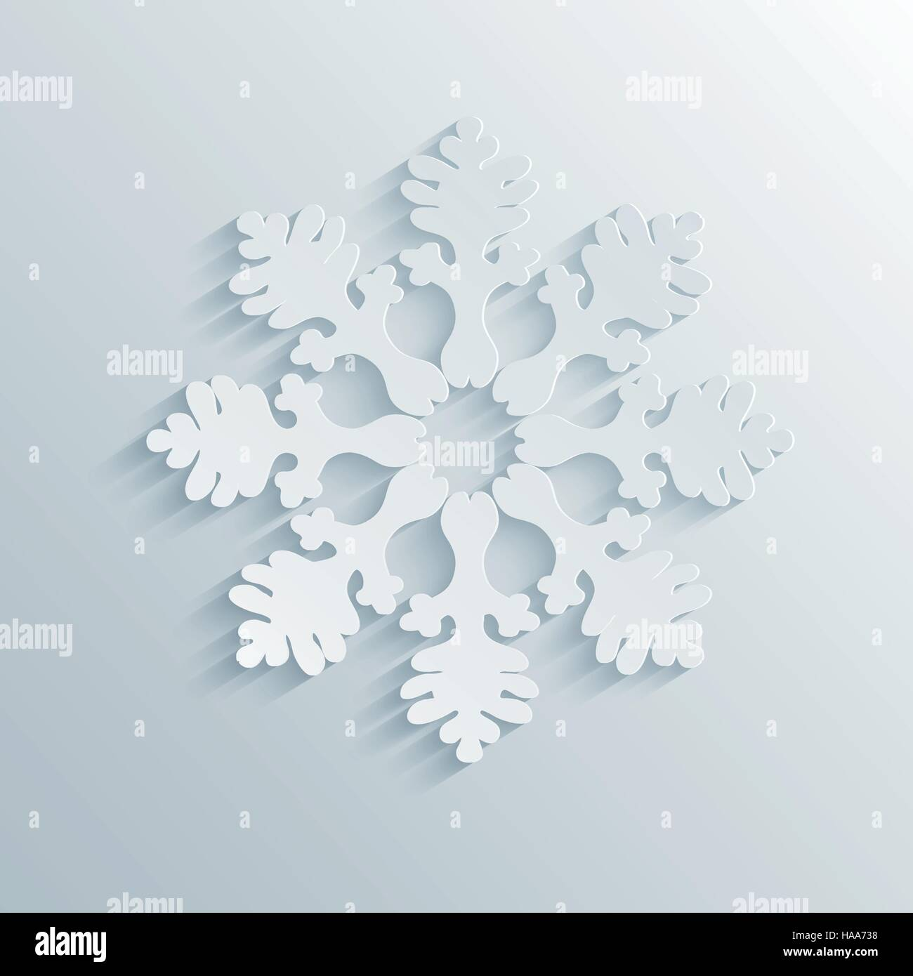 Winter Holiday 3D Snowflake - Stock Image