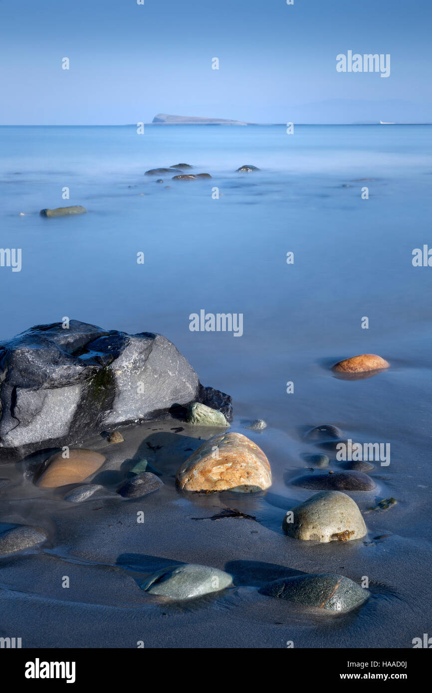 view across clew bay county mayo ireland from bertra strand - Stock Image