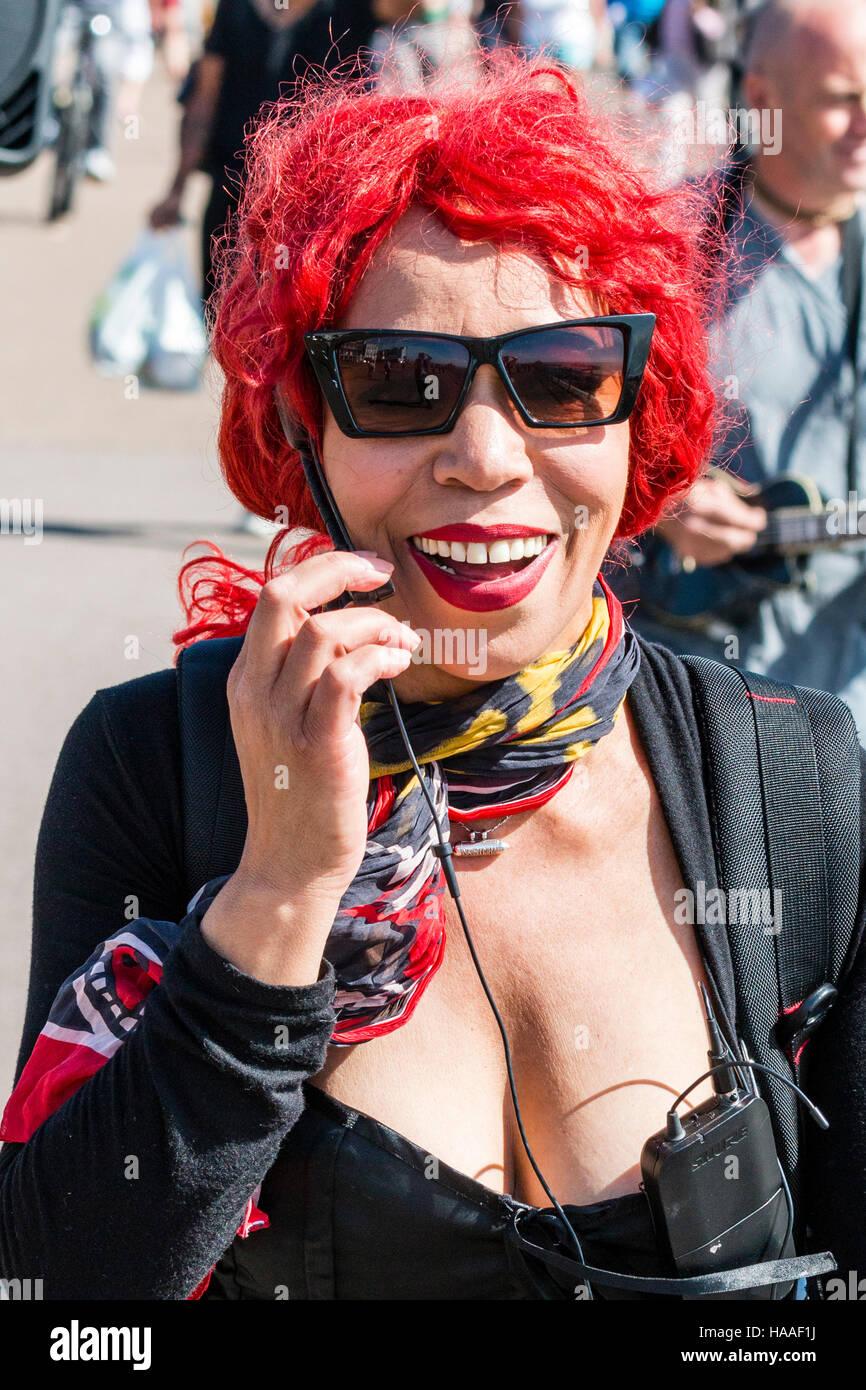 Red hair singer female