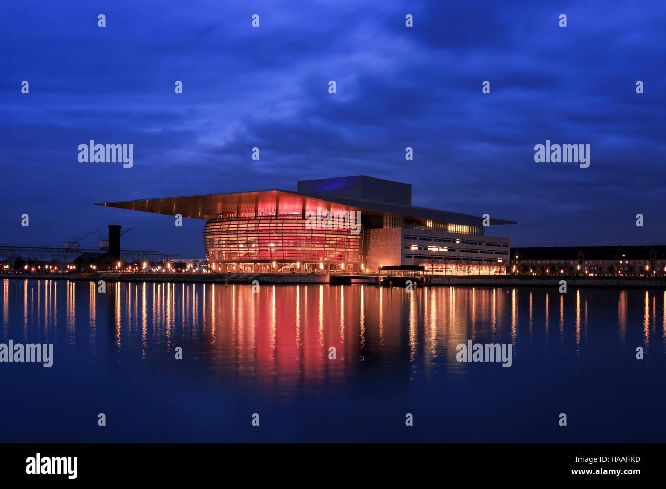 Copenhagen Opera House, Copenhagen, Denmark - Stock Image