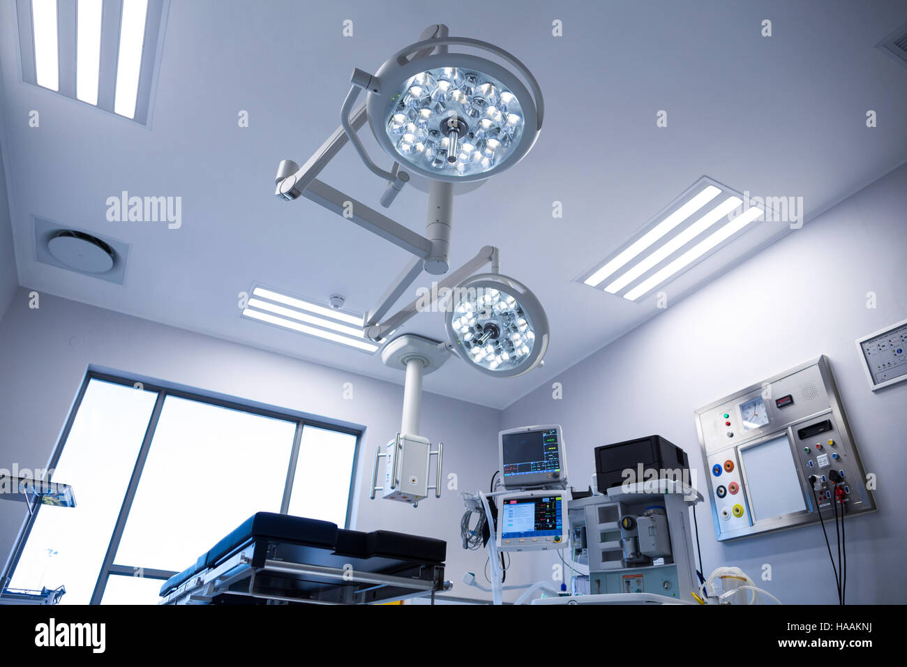 Interior view of operating room - Stock Image
